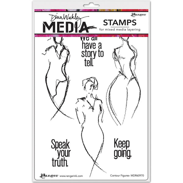 Dina Wakley Media Stamps - Contour Figures