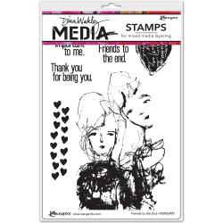 Dina Wakley Media Stamps - Friends to the End