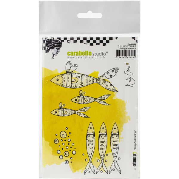 Carabelle Studio Cling Stamp A6 By Kate Crane - Keep Swimming