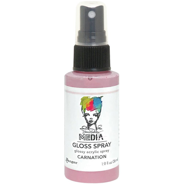 Dina Wakley Media Gloss Spray - Carnation