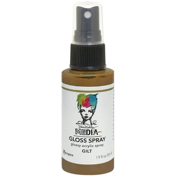 Dina Wakley Media Gloss Spray - Gilt
