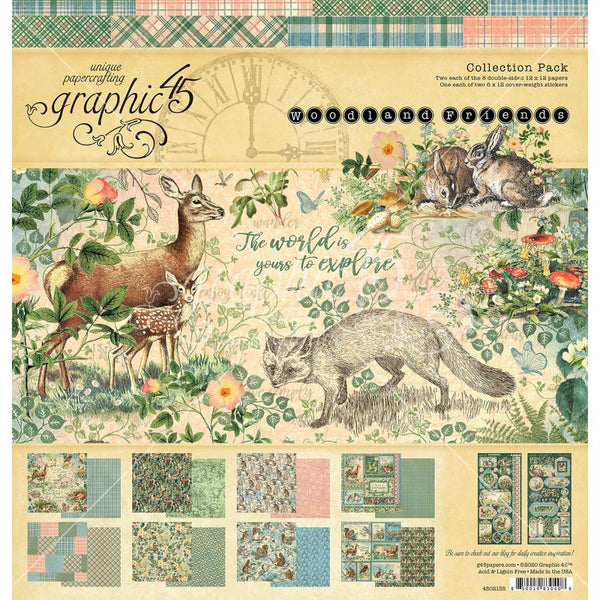 "Graphic 45 Collection Pack 12""X12"" Woodland Friends"