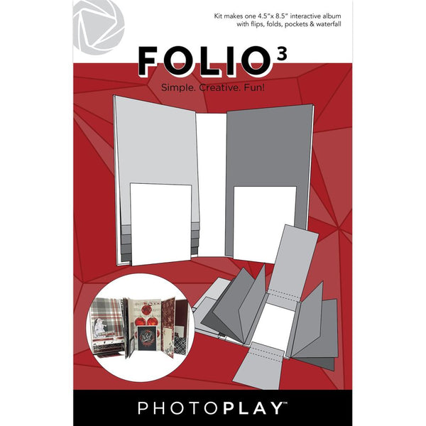"PhotoPlay Maker Series Folio3 4.5""X8.5"" White"