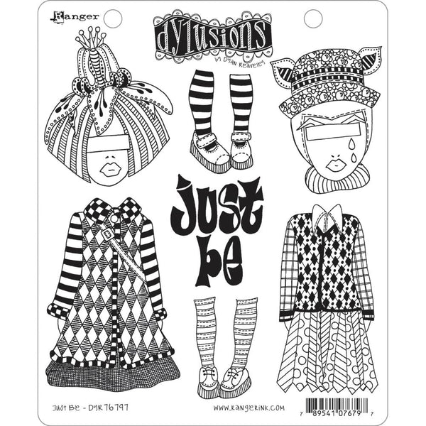 "Dylusions Just Be Cling Stamp Collections 8.5""X7"""
