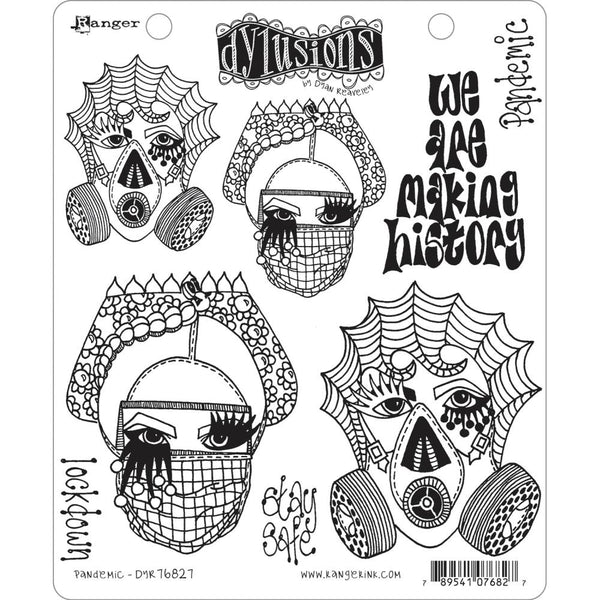 "Dylusions Pandemic Stamp Collections 8.5""X7"""