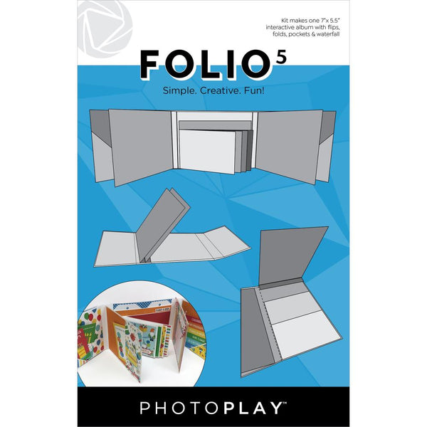 "PhotoPlay Folio 5.5""X7"" White"