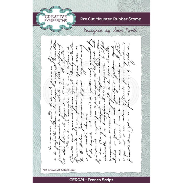 Creative Expressions A6 Stamp French Script