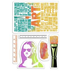 "Ciao Bella Bad Girls Clear Stamps 4""X6"" - Art Rulers"