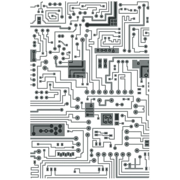 Sizzix 3D Textured Impressions Embossing Folder By Tim Holtz - Circuit