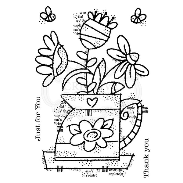 Woodware Clear Stamps Flower Jug