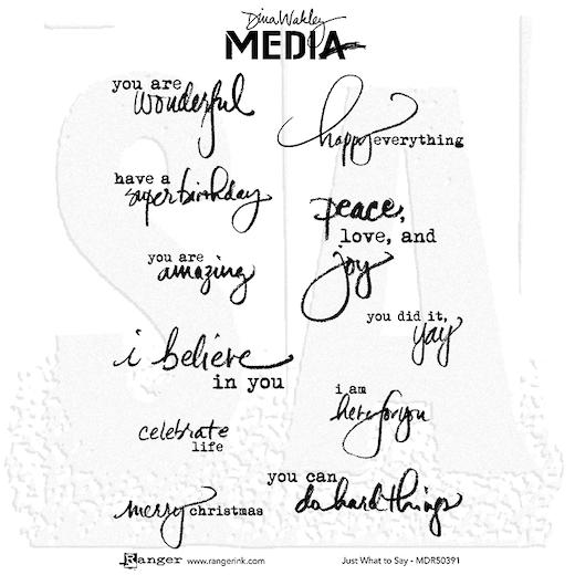 Dina Wakley Media Cling Mount Stamps - Just What To Say