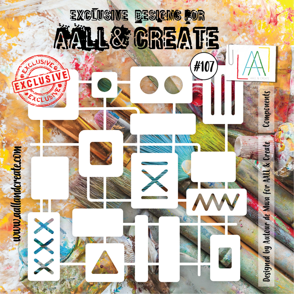 Aall & Create Stencil #107 Components