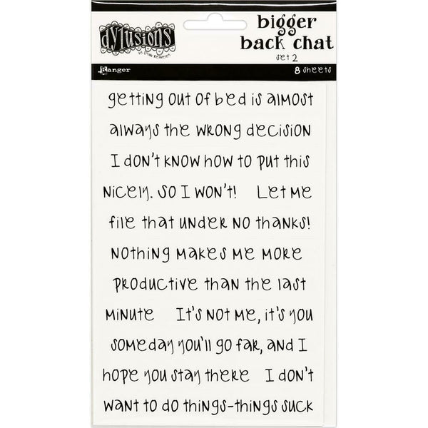 Dylusions Bigger Back Chat Stickers White Set #2