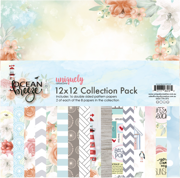Uniquely Creative Ocean Breeze 12x12 Collection Pack