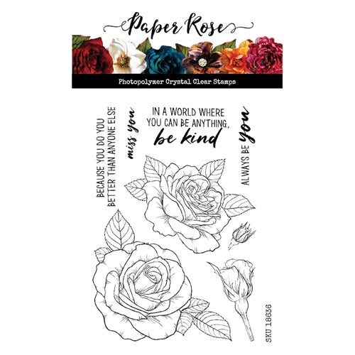 Paper Rose Stamps - Sketchy Roses