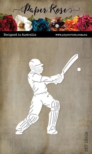 Paper Rose Dies - Cricket Player with Bat & Ball