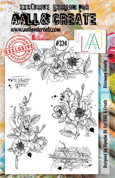 Aall & Create Rubber Stamps #324 Blooming Beauty