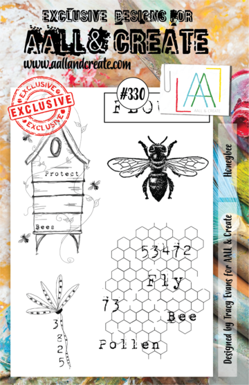 Aall & Create Rubber Stamps #330 Honeybee