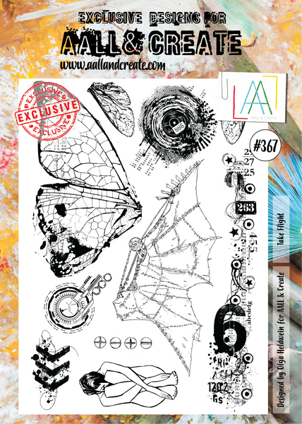Aall & Create Stamp #367 Take Flight