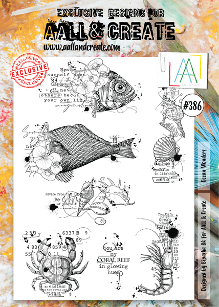 Aall & Create Rubber Stamps #386 Ocean Wonders