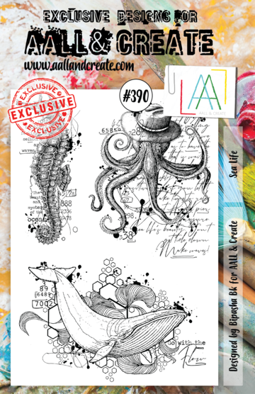 Aall & Create Rubber Stamps #390 Sea Life