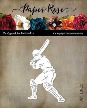 Paper Rose Dies - Cricket Player with Bat Large