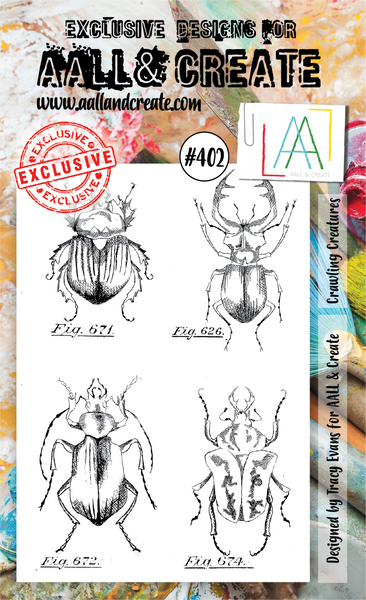 Aall & Create Rubber Stamps #402 Crawling Creatures