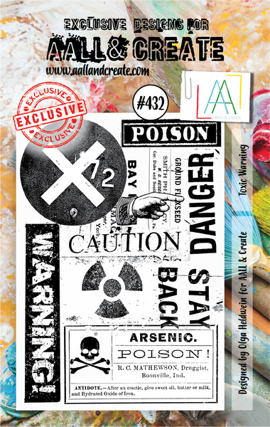 Aall & Create Rubber Stamps #432 Toxic Warning
