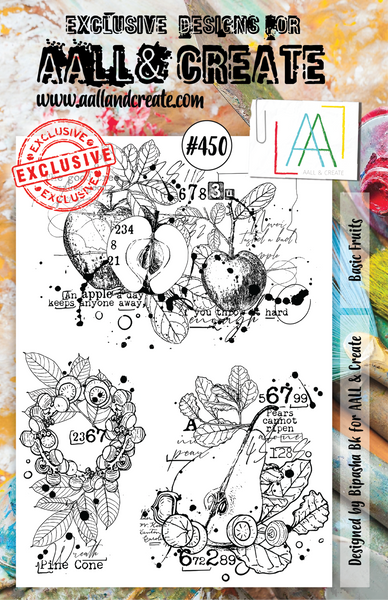 Aall & Create Rubber Stamps #450 Basic Fruits