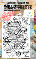 Aall & Create Rubber Stamps #459 Lined Triangles