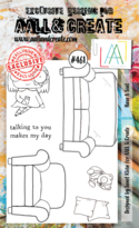 Aall & Create Rubber Stamps #461 Have A Seat