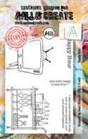 Aall & Create Rubber Stamps #476 Happy Hour