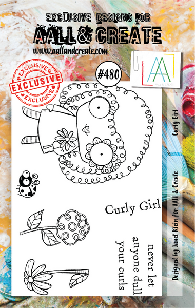 Aall & Create Rubber Stamps #480 Curly Girl