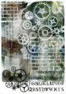 ScrapFX Mechanical Collage ricepaper