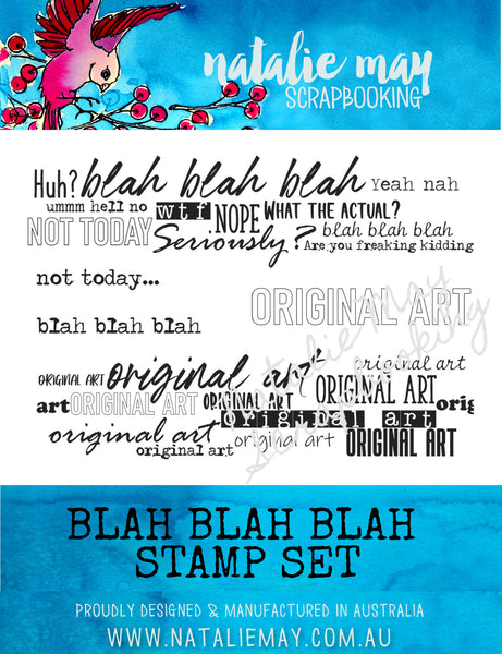 Blah Blah Blah Stamp Set - By Natalie May
