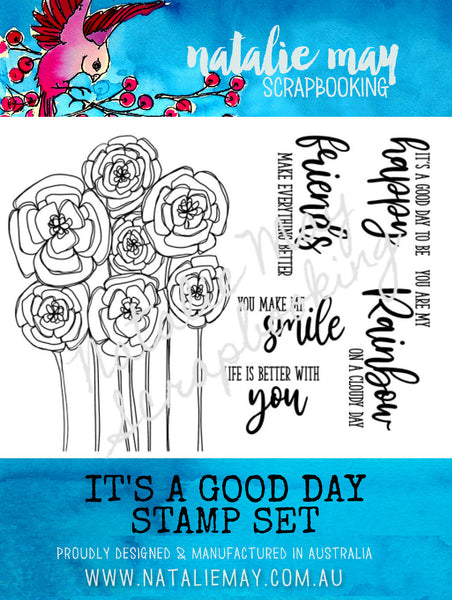 It's A Good Day Stamp Set - By Natalie May