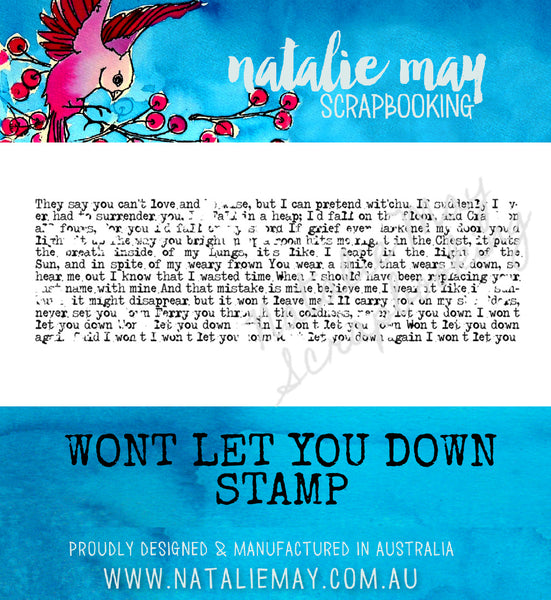 Wont Let You Down Stamp - By Natalie May