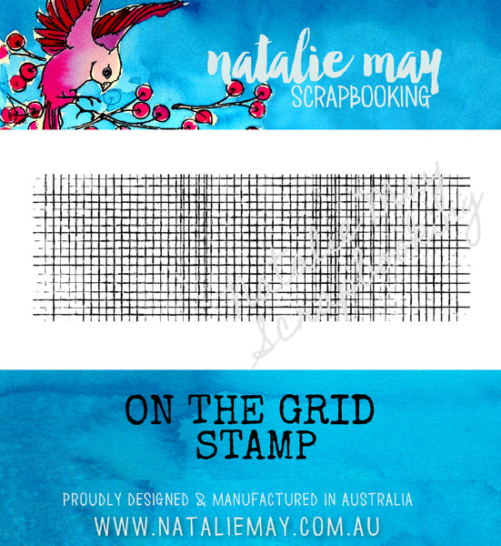 On the Grid Stamp - By Natalie May