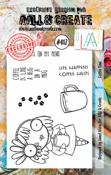 Aall & Create Rubber Stamps #417 Coffee Time