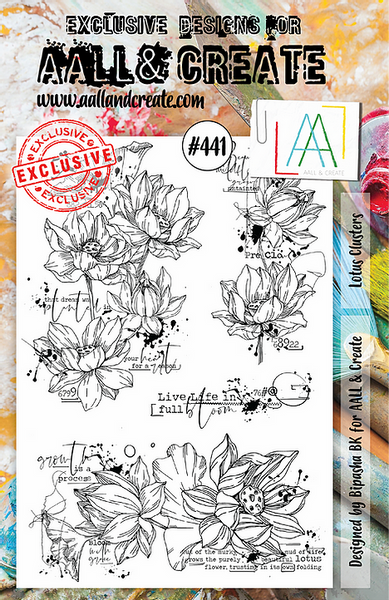 Aall & Create Rubber Stamps #441 Lotus Clusters