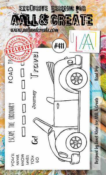 Aall & Create Rubber Stamps #411 Road Trip