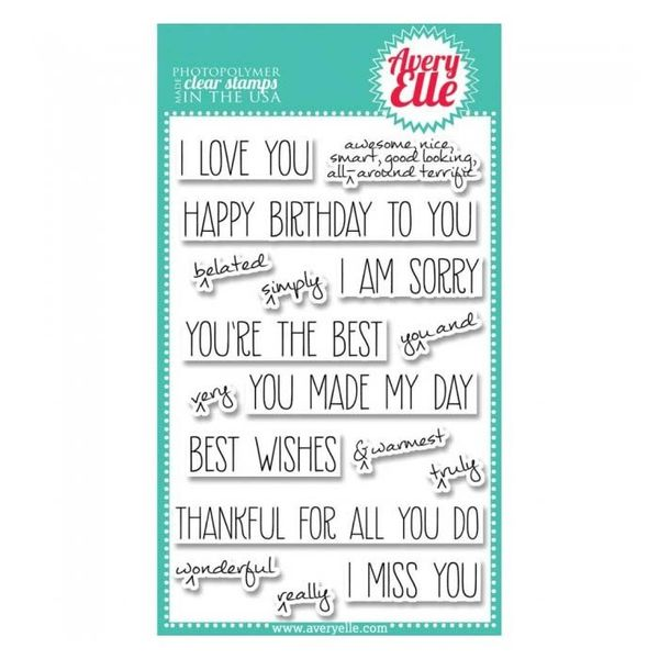Avery Elle Clear Photopolymer Stamps - Handwritten Notes