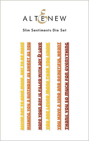 ALTENEW Slim Sentiments Die Set