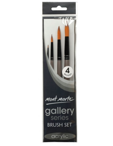 Mont Marte Gallery Series Brush Set Acrylic 4pc