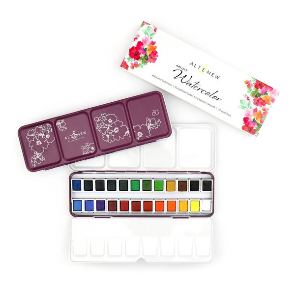 ALTENEW Watercolor 24 Pan Set