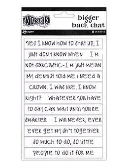 Dylusions Bigger Back Chat - White