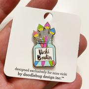 Vicki Boutin Enamel Collector Pin