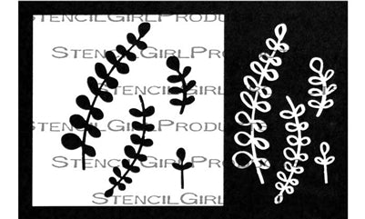 StencilGirl - Maidenhair Fern