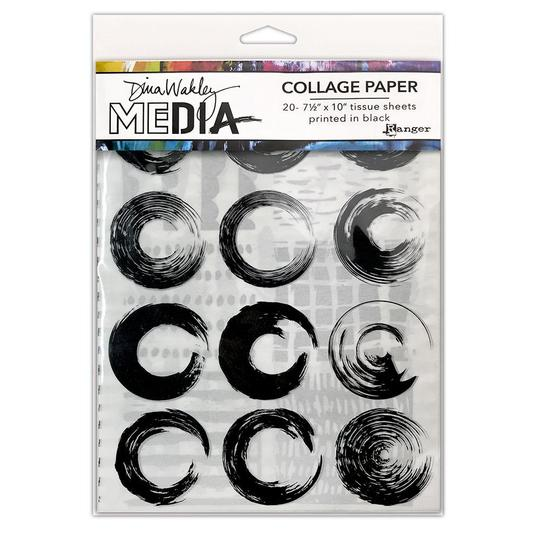 Dina Wakley Media Collage Paper - Elements