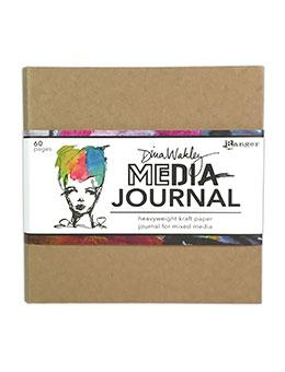 "Dina Wakley MEdia Kraft Journal 6"" x 6"""